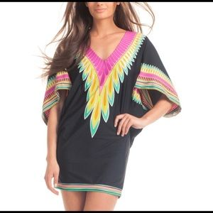 🆕 Trina Turk Plumas Tunic Cover Up Swim Dress